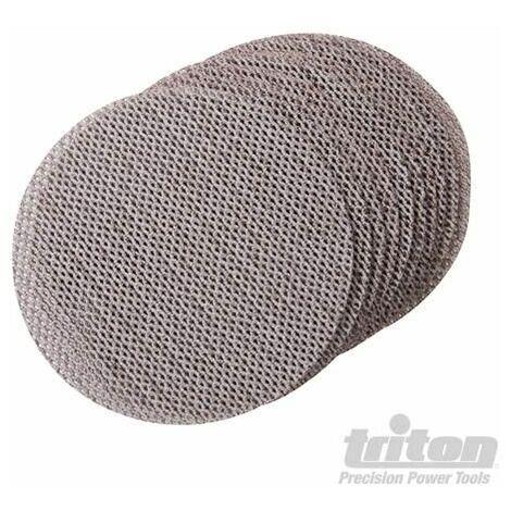 Triton Hook & Loop Mesh Sanding Disc 125mm 10pk 100 Grit 388109