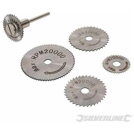 Silverline HSS Saw Disc Set 6pce 22, 25, 32, 35 & 44mm 289305