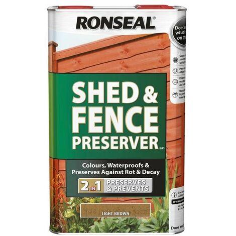 Shed & Fence Preserver Light Brown 5 Litre RSLSFLB5L