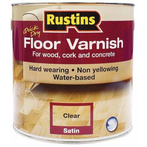 Quick Dry Floor Varnish Satin 1 litre RUSQDFVS1L