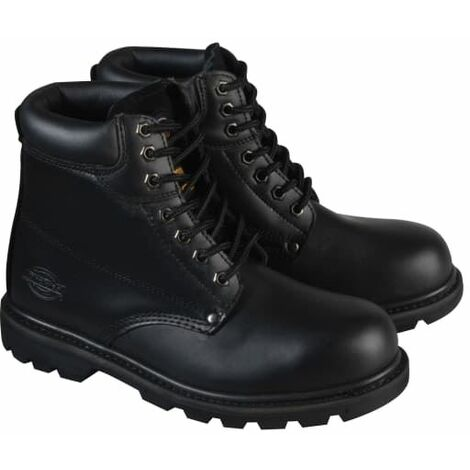 Cleveland Black Super Safety Boots UK 12 Euro 47 DICCLEVE12BL