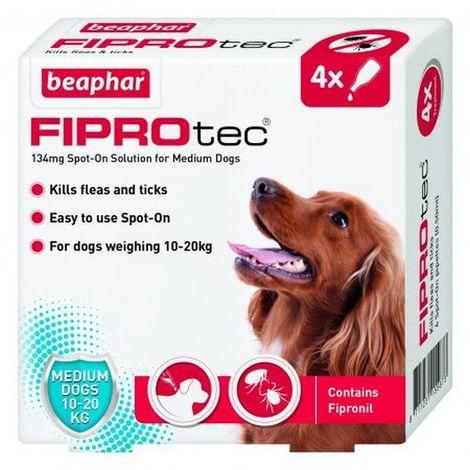 Beaphar Fiprotec Spot On Medium Dog (4 Pipettes) x 1 (260703)
