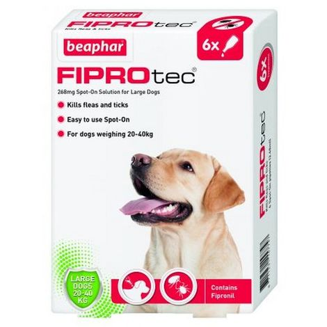 Beaphar Fiprotec Spot On Large Dog (6 Pipettes) x 1 (260707)