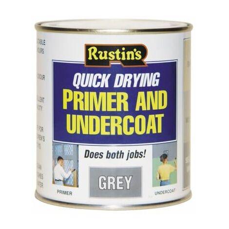 Quick Dry Primer & Undercoat Grey 1 Litre RUSQDPUG1L