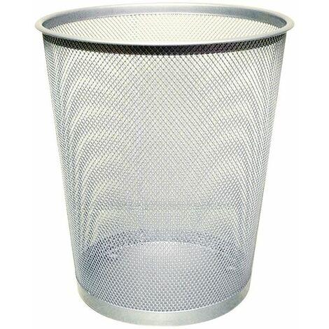 Q-Connect Waste Basket Mesh 18Ltr Silver - KF00849