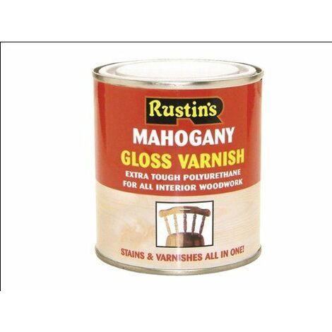 Polyurethane Varnish & Stain Gloss Mahogany 250ml RUSPVGM250