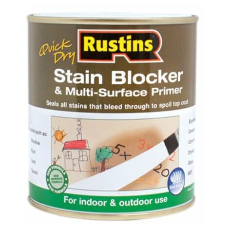 Quick Dry Stain Block & Multi Surface Primer 1 litre RUSQDSBP1L