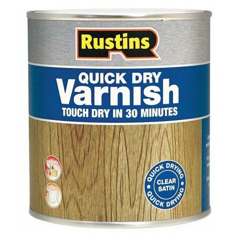 Quick Dry Varnish Satin Walnut 500ml RUSQDVSW500