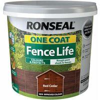 One Coat Fence Life Red Cedar 5 Litre RSLOCFLCE5L