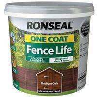 One Coat Fence Life Medium Oak 5 Litre RSLOCFLMO5L