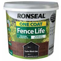 One Coat Fence Life Tudor Black Oak 5 Litre RSLOCFLTBO5L