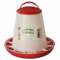 Supa Red and White Plastic Poultry Feeder 1kg x 1  (4240)