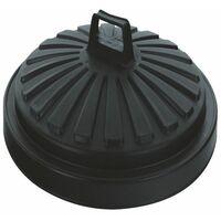 Addis Black Dustbin Lid Round 90Ltr - AG05089