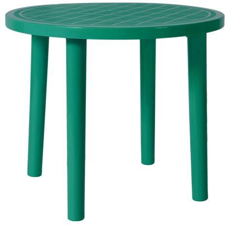 resol mesa de jardín exterior redonda Tossa 86Ø - color verde oscuro