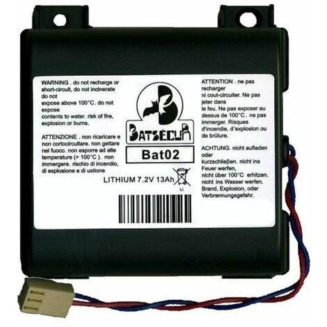BAT22 KIT N.5-BATTERIA PILA COMPATIBILE BATLI22 BATSECUR 7,2V 13Ah DAITEM