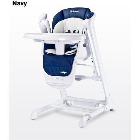 2en1 Chaise haute avec balancelle | Bébé/Enfant | Chaise repas | Transat | Réglable en hauteur  | Chaise bébé portable | Evolutive - bleu marine