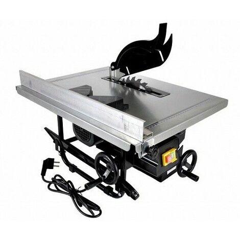 DCRAFT - Scie circulaire de table de précision 1200W 2950 tours/min - Scie sur table lame inclinable - Scie électrique coupage bois - Argent/Noir