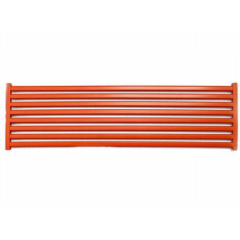 CORA - Radiateur design horizontal eau chaude chauffage central 50x120 cm 723W Acier Entraxe 50mm - Radiateur décoratif tendance - Rouge