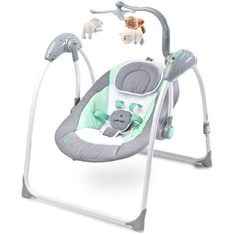 Balancelle électrique avec mode de détection vocale mobile mélodies télécommande bébé enfant 1m+ 12kg Loop - Graphite