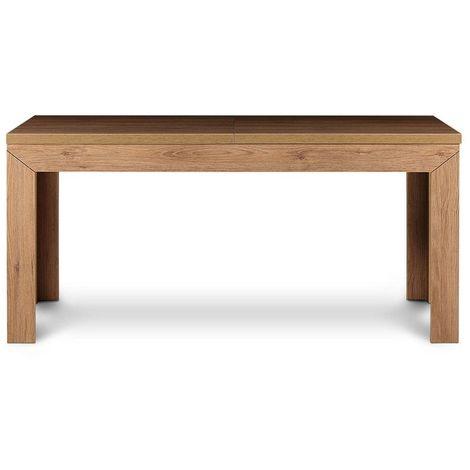 KALDO | Table de salle à manger extensible style moderne | 160-200x75x90 cm | Capacité 4-6 personnes | Plateau épais - Chêne