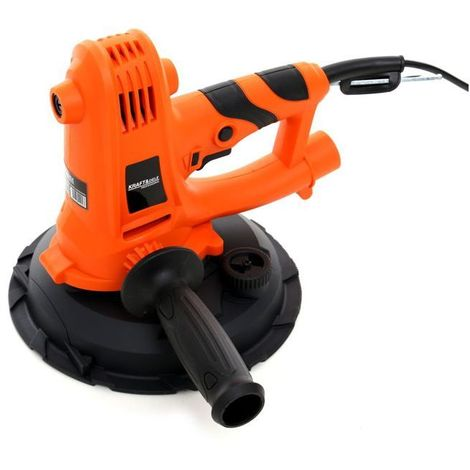 DCRAFT - Ponceuse à plâtre/gypse - Puissance 1400W - Rotation à vide 1500-2700 rpm - Outillage électroportatif bricolage atelier - Orange