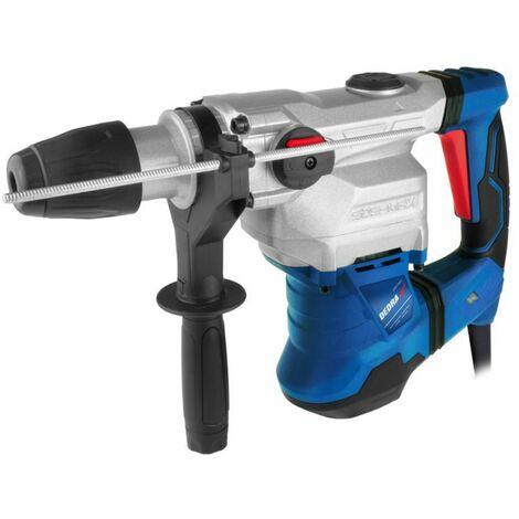 DTOOLS - Marteau Perforateur Burineur 1500W 12J - SDS MAX - Foret + Burin inclus - Outil électroportatif atelier bricolage - Bleu