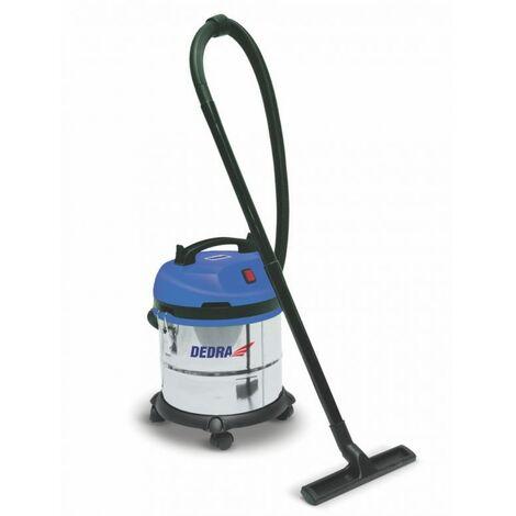 DTOOLS - Aspirateur industriel eau et poussière - Puissance 1200 W - Cuve inox capacité 20 L - Aspirateur atelier - Filtre HEPA - Bleu