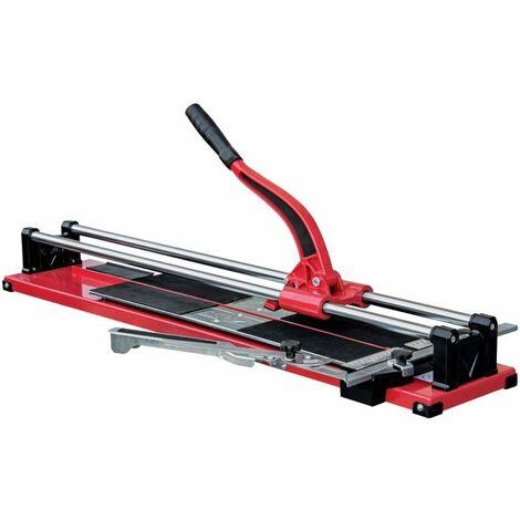 DTOOLS - Coupe-carreaux manuel émail - Longueur de coupe maximale 800 mm - Machine à couper les carreaux - Double rail - Rouge