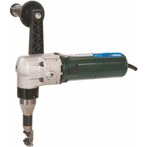 DTOOLS - Grignoteuse électrique découpe de tôle - Puissance 625 W - Hauteur maxi de coupe en vertical 3 mm - Vert