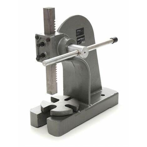 DCRAFT - Presse hydraulique manuelle - Capacité de 2 T - Diamètre maximum de 12 pouces - Hauteur maximale de 7 pouces - Gris