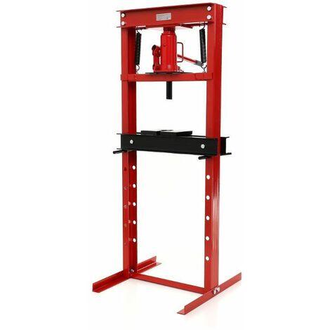 DCRAFT - Presse hydraulique - Capacité de 20 T - Dimensions de travail de 0 à 65 cm - Largeur de travail de 42 cm - Rouge