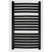 ZEPHYR - Sèche serviettes eau chaude chauffage central 469W 91x54cm - Radiateur salle de bains acier 16 barreaux - Noir