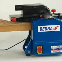 DTOOLS - Dégauchisseuse-raboteuse - Puissance 1100 W - Dégauchisseuse d'établi - Usinage bois - Outil chantier atelier - Bleu