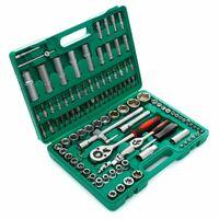 DCRAFT - Coffret de douilles + embouts + clés à cliquet 1/2 1/4 - 108 éléments - Valise de transport - Coffret douilles - Vert