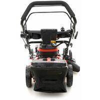 DCRAFT - Tondeuse à gazon thermique - Puissance 660 W - Largeur de coupe 530 mm - Capacité du bac 60 L - Rouge