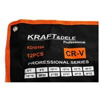 DCRAFT - Jeu de clés à œil - 12 clés - Dimensions de 6 à 32 mm - Clés contre-coudées - Noir