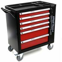 DCRAFT - Servante d'atelier avec outils - 263 outils- 85 x 47 x 97 cm - 6 tiroirs - Latérale - Rouge
