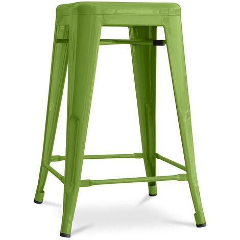 Tabouret Tolix 60cm Pauchard Style - Métal Vert clair