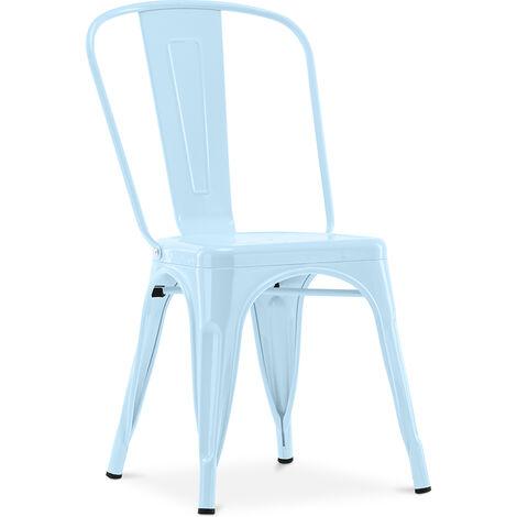 Chaise Style Tolix 5Kgs Nouvelle édition - Métal Bleu clair