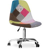 Chaise de bureau Deswick - Patchwork Simona Multicolore