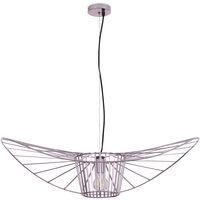 Lampe à suspension verticale 100cm - Métal Rose Or