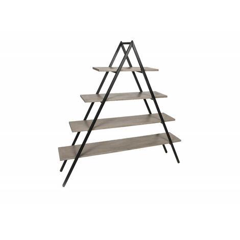 Étagère échelle en béton et acier rangement design moderne et industriel - GREY - Gris
