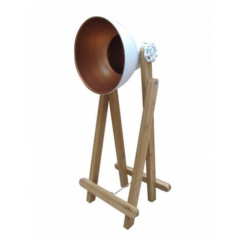 Lampe à poser projecteur blanc - OXI - Blanc