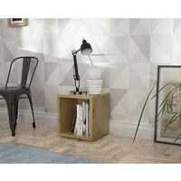 Etagère cube 1 casier décor bois rustique texturé - CLASSICO - Bois