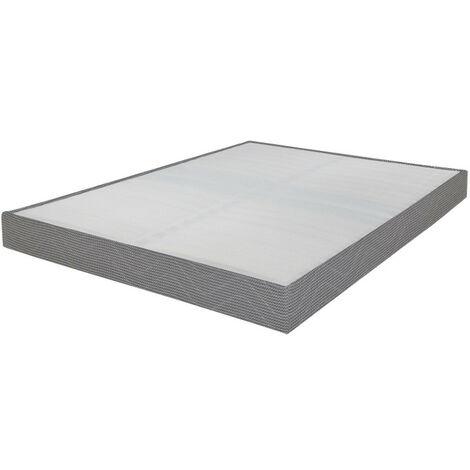 Sommier tapissier 120x190 Omega gris clair 2x18 lattes