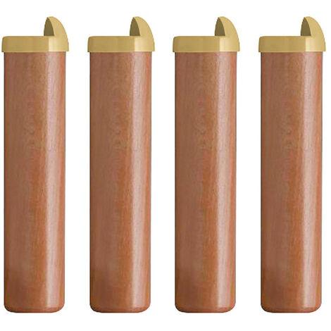 4 pieds bois H 22 cm pour sommier métal