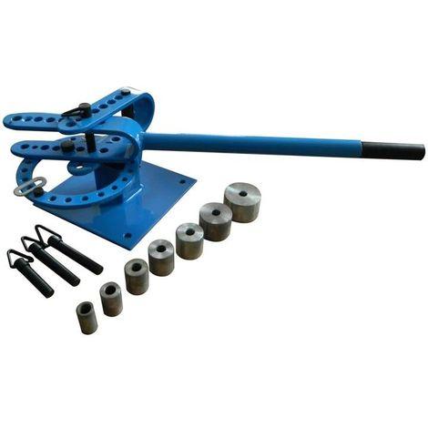 Cintreuse manuelle Presse à cintrer plieuse manuelle Fer plat et rond tube acier + 7 Adaptateurs