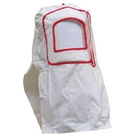 Masque Cagoule Visière Blanc de Protection de Sablage