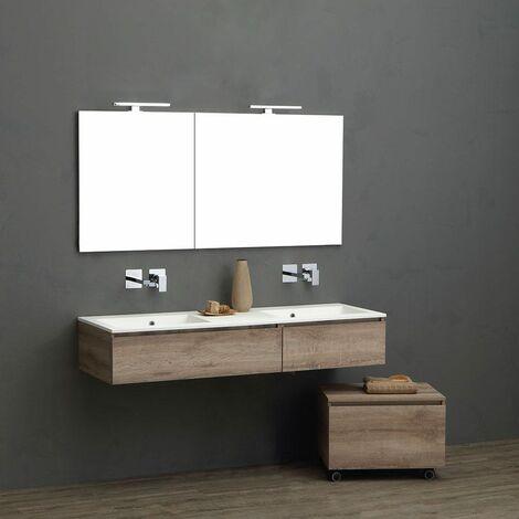 Mobile Bagno Con Doppio Lavabo Da 150 Cm Per Rubinetto A Muro 02010662000112
