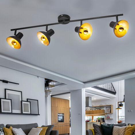 Spot Leiste Decken Strahler Lampe Kugel Glas Wohn Zimmer Leuchte gold beweglich